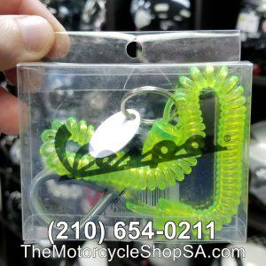 green vespa spiral key ring