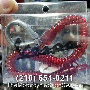 red vespa spiral key ring