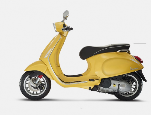 2016 Vespa Sprint 150i in Yellow W/Rear Rack & Top Box