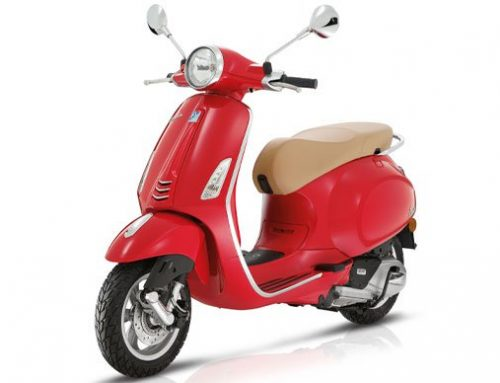 2017 Vespa Primavera 150i in Red