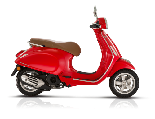 2018 Vespa Primavera 150i in Red